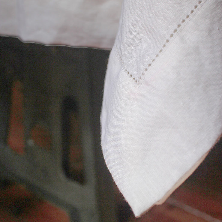 Rustic Hemstitched Linen Tablecloth - Linenshed