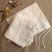 100% Pure Washed Linen Napkins with bag - Linenshed