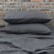 Plain Lead Gray Pillowcases Pair
