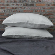 Washed Linen Housewife Pillowcases pair Stone Gray
