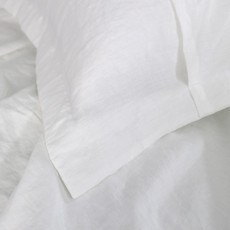 Linen Flange Pillow Sham White