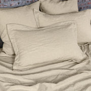 Linen Flange Pillow Cover Natural