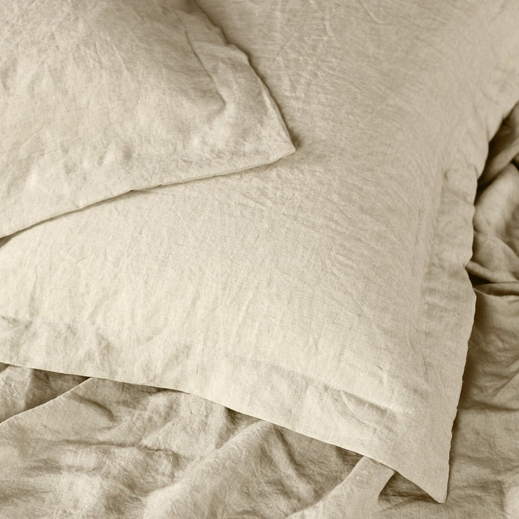 Oxford Pillow Case In Natural Linen