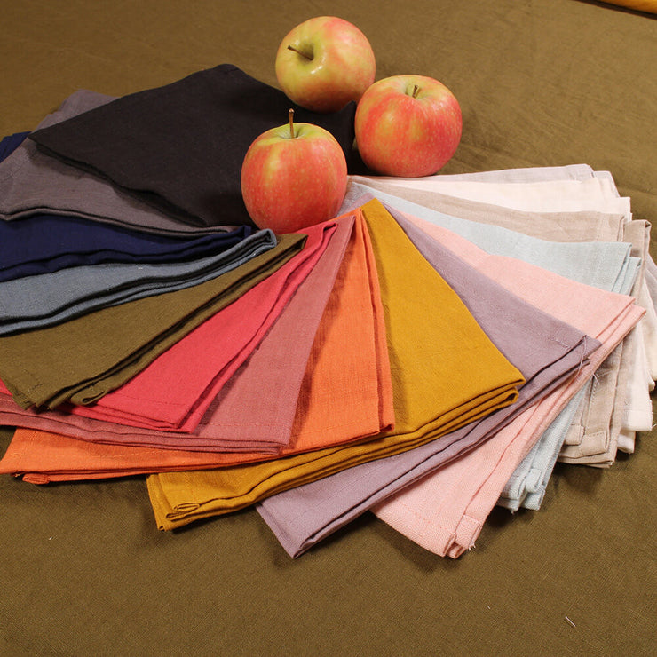 100% Pure Washed Linen plain Table Napkins