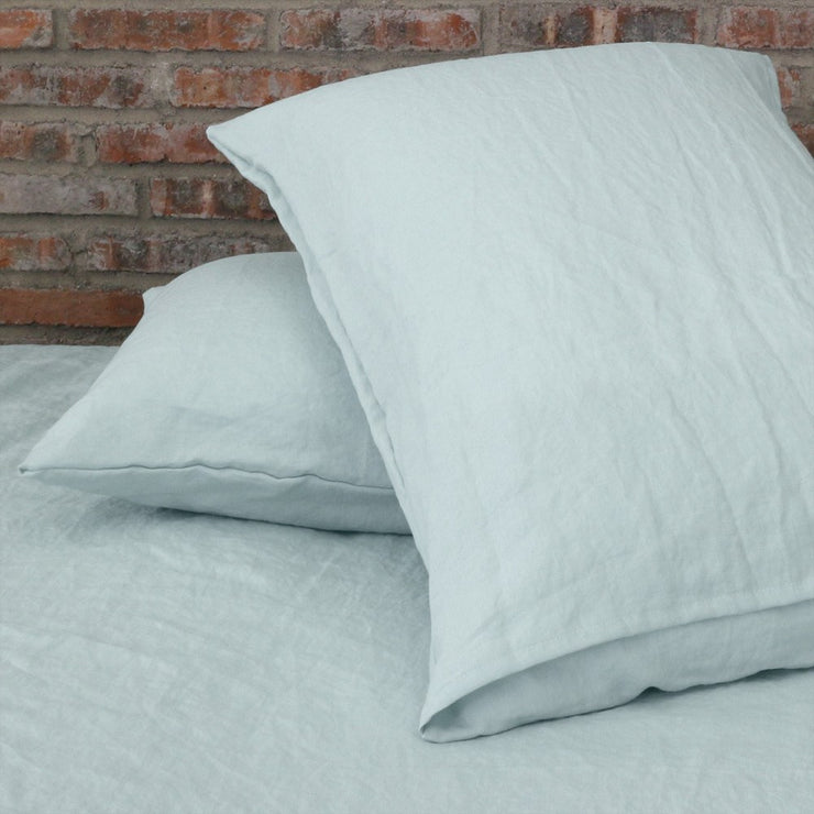 Linen Housewife Pillowcases (set of 2) Icy Blue back view