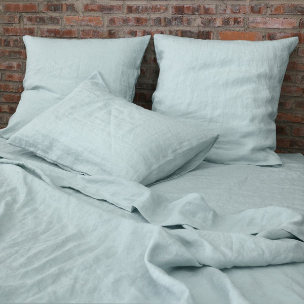 Linen Housewide Pillowcases (set of 2) Icy Blue Euro & Standard