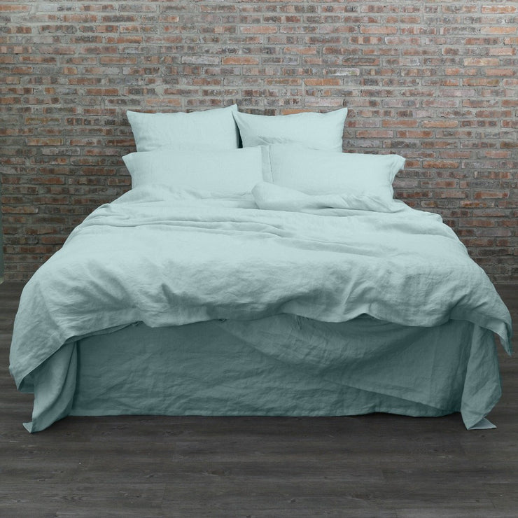 Soft Washed Linen Duvet Cover Icy Blue