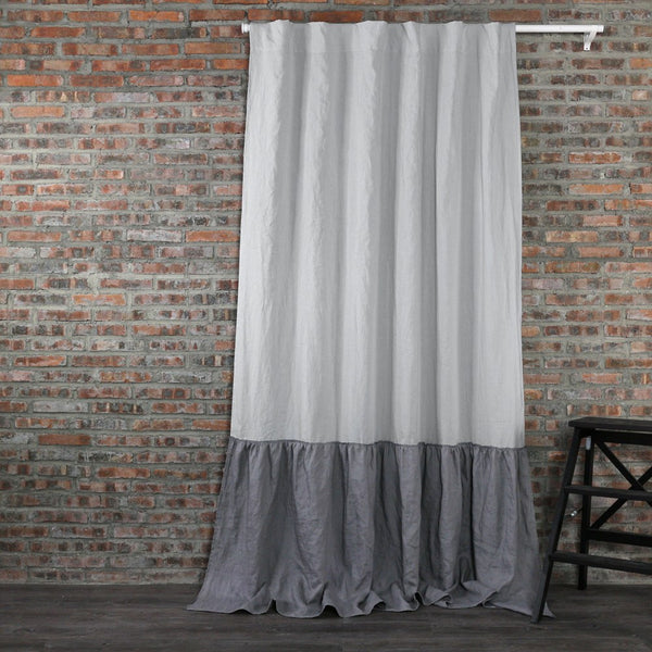 Buy Our Ruffles Linen Window Curtain At Linenshed Uk