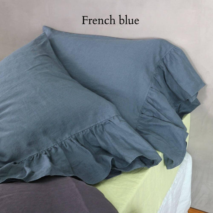 Side-Ruffle-Pillowcases-Set-French-Blue