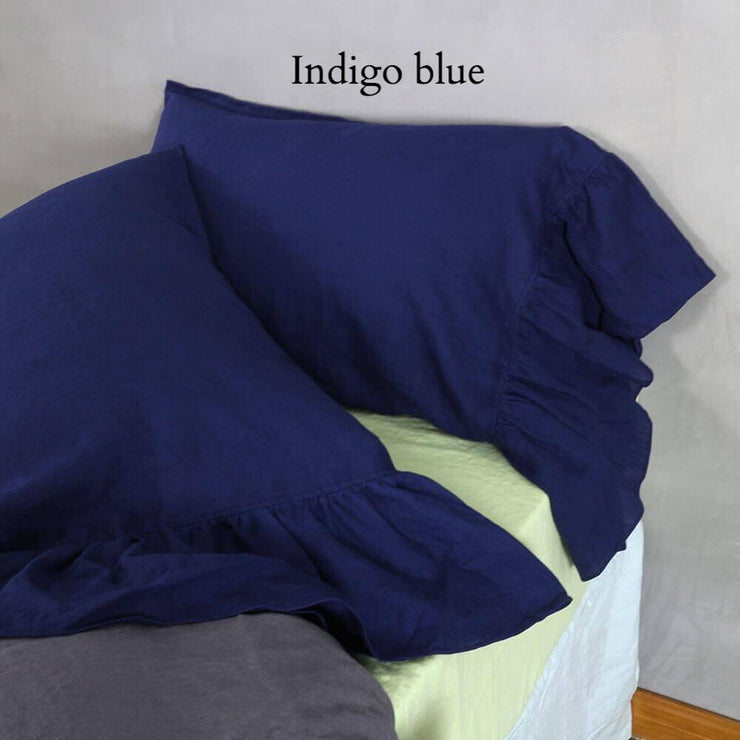 Side-Ruffle-Pillowcases-Set-Indigo-Blue