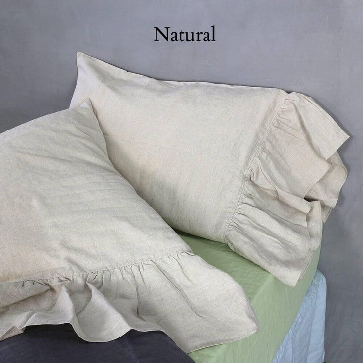 Side-Ruffle-Pillowcases-Set-Natural