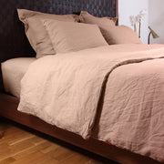 Nude Duvet cover with Bedskirt and pillowcases