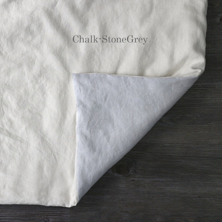 Two Tones Duvet Cover Chalk-StoneGray