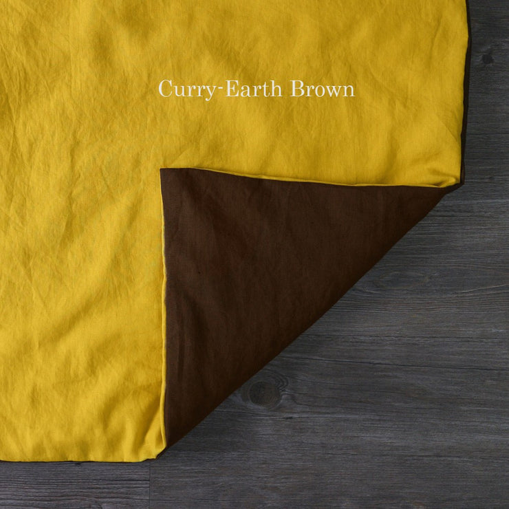 Two Tones Duvet Cover Curry-Earth