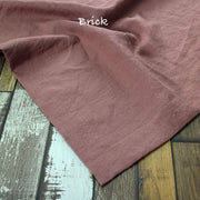 Rustic Linen TableCloth with Mitered Corners Brick