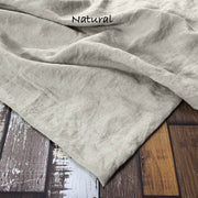 Mitered border Linen Table Runner Natural