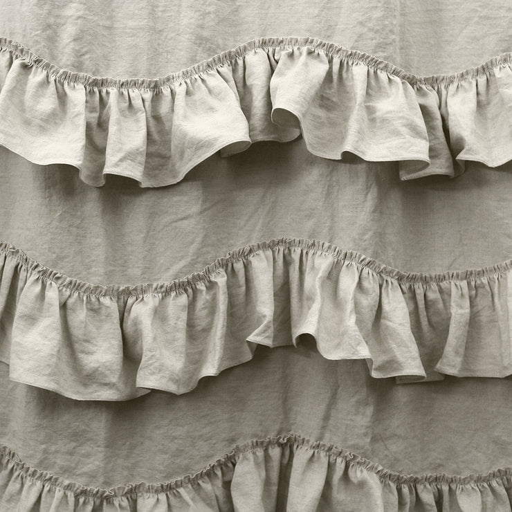 Waterfall Washed Linen Window Curtains