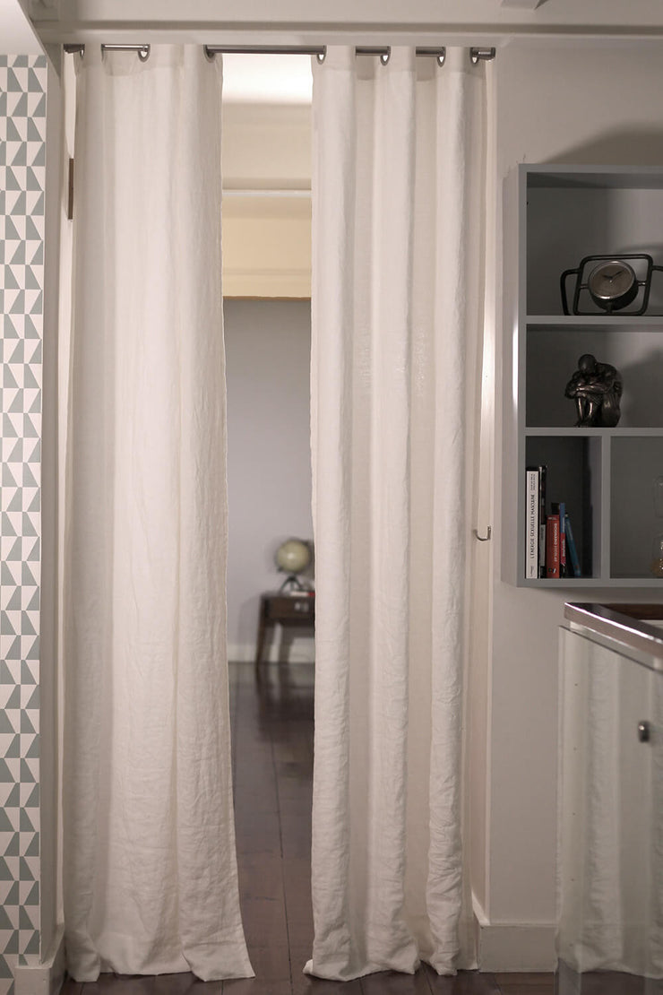 Pure Washed Linen Curtain Drapery (rect. custom size)