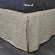 Split-Corner Linen Bed Skirt Natural