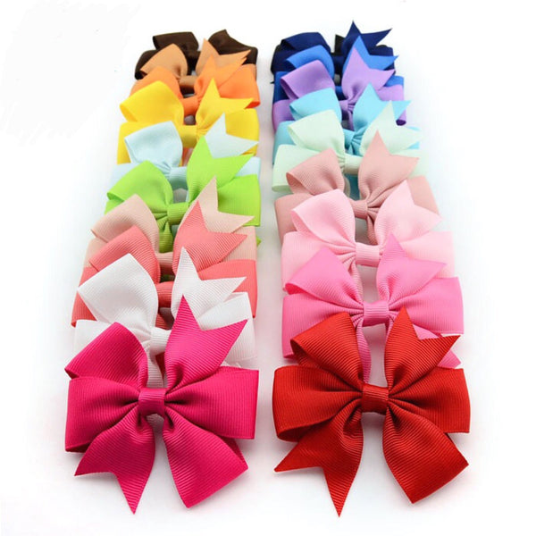 40 bows 20 colors 3""