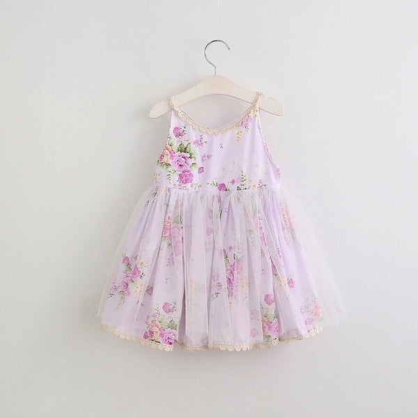 Naomi floral dress in lavender