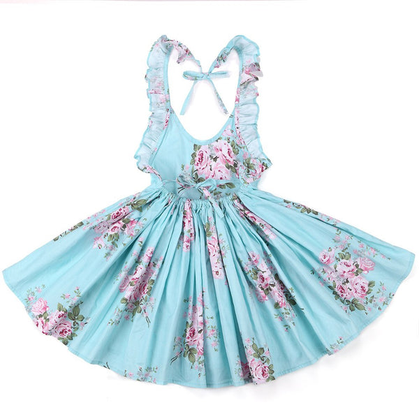 Leah floral dress in blue
