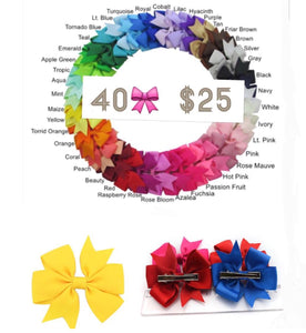 Set of 40 bows 3""