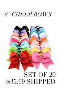 "Set of 20/8"" cheer bows"