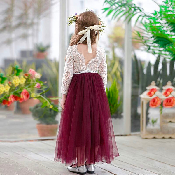 Eleanor dress in maroon color