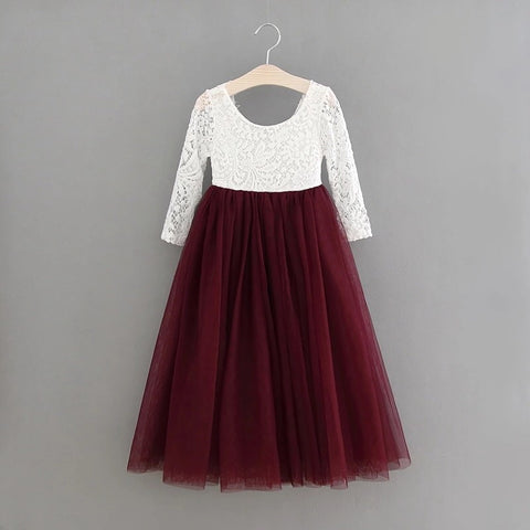 Eleanor dress in burgundy