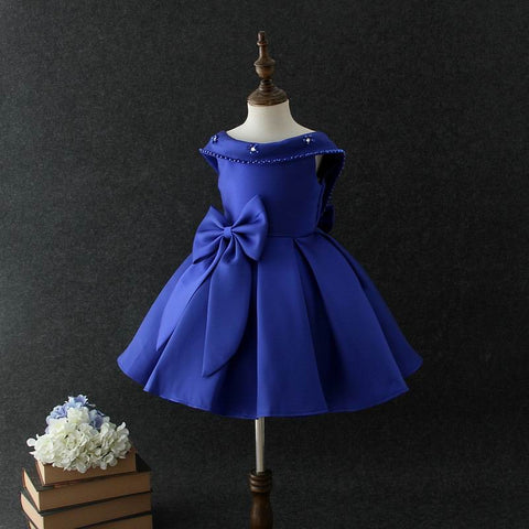 Caroline dress in deep blue