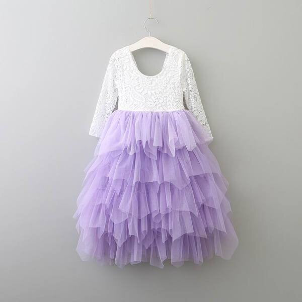 Lavender long sleeve Audrey dress
