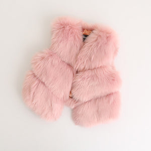 Jewel Faux Fur Vest