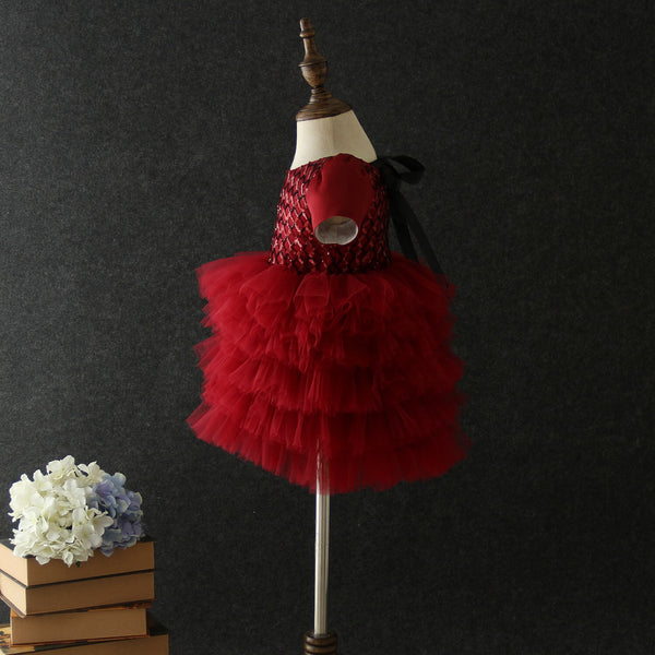 Olivia tutu special occasion dress in red