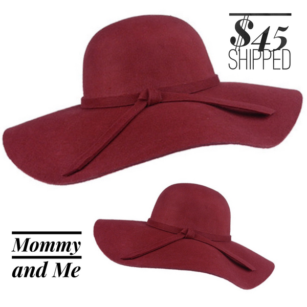 Mommy and Me floppy hats
