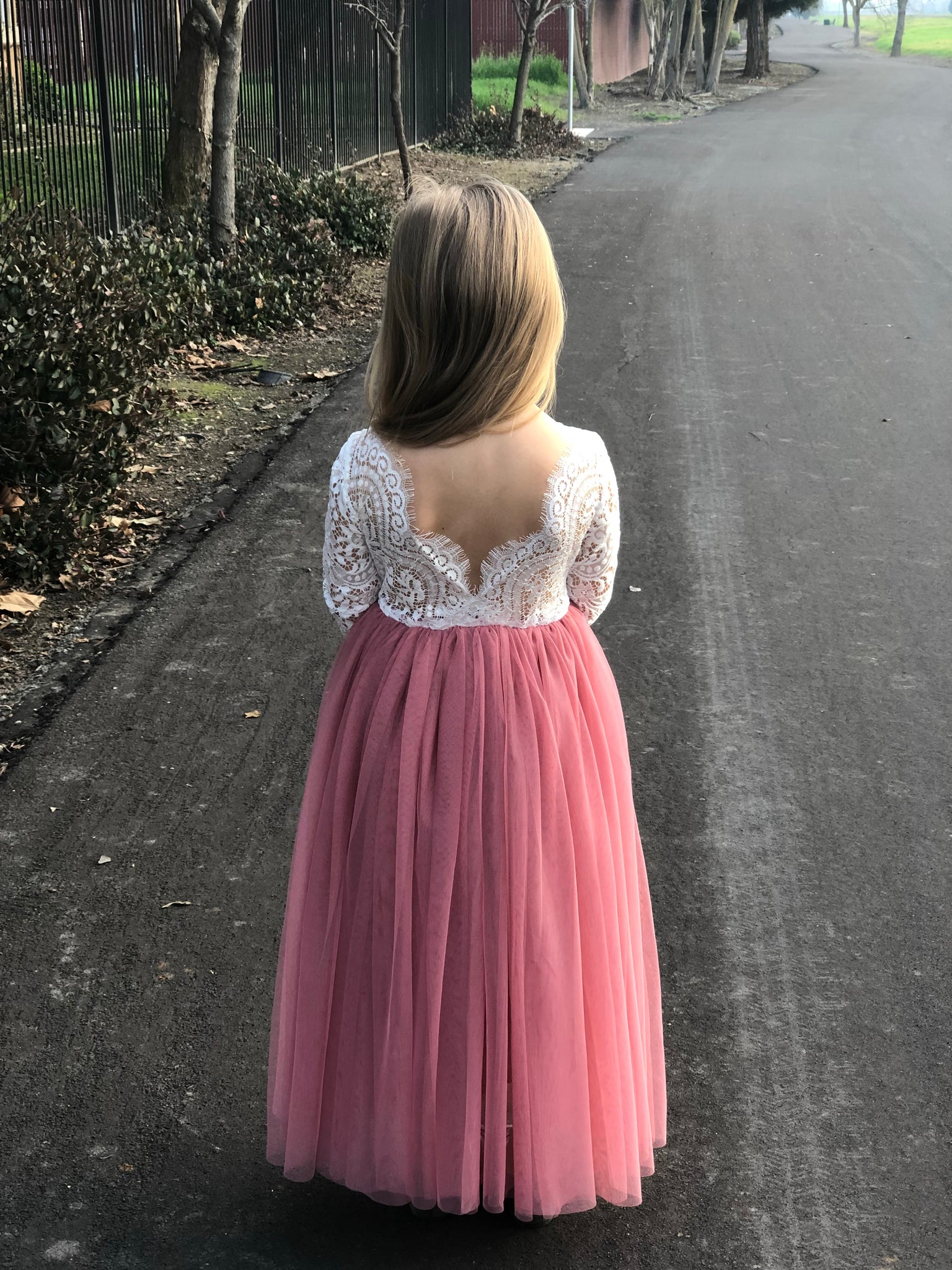 Eleanor dress/blush pink
