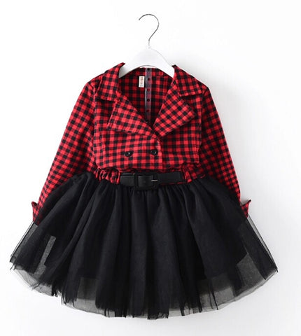 Madley Red plaid dress