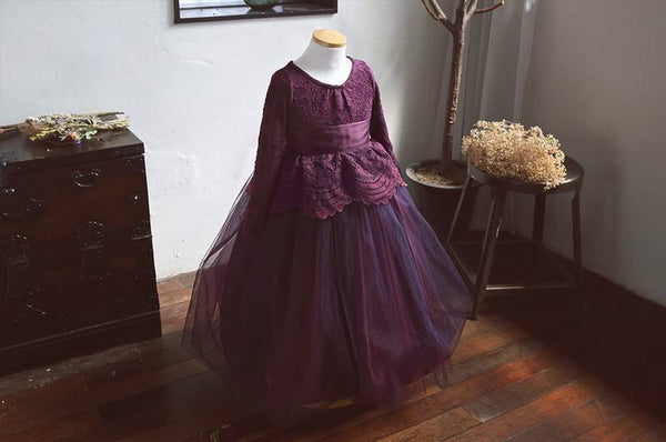 Alexandra dress/purple plum