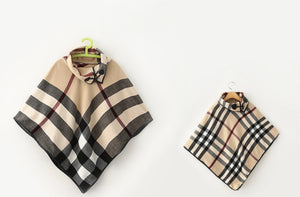 Plaid mommy and Me poncho