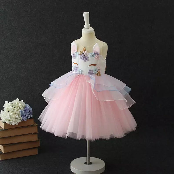 Pink Unicorn tutu dress