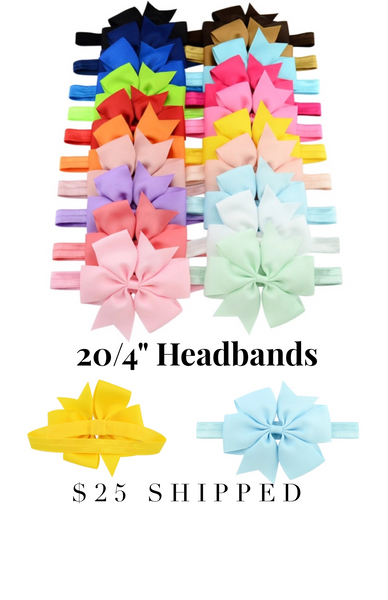 "Set of 20/4"" headbands #2"