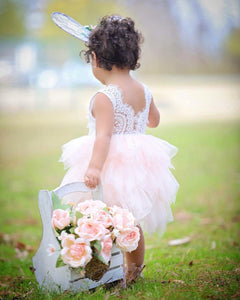 Audrey embellished lace/tutu dress