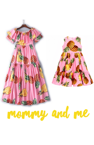Pineapple Mommy and Me dress