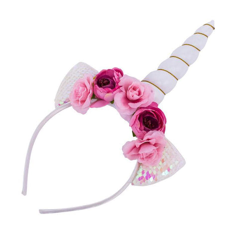 Pink unicorn headband