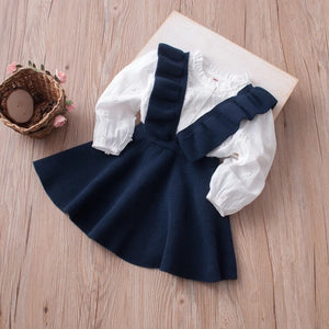 Knitted suspender dress