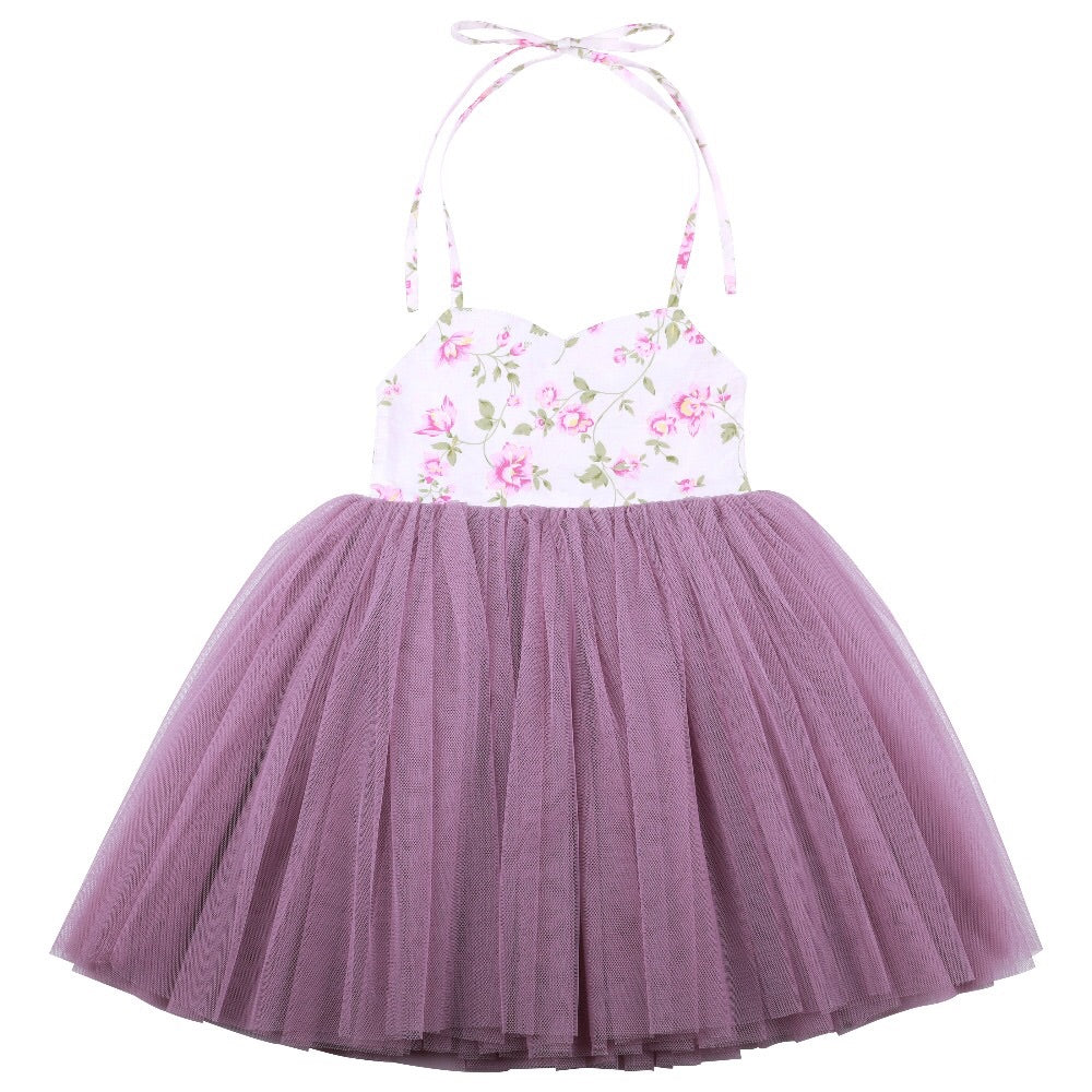 Crystal tutu dress in purple