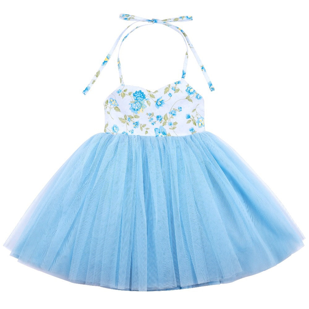 Crystal tutu dress in blue