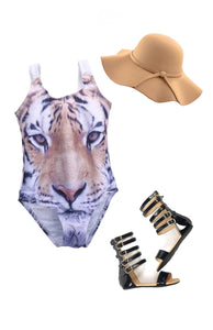 Mighty Tiger one piece swimsuit
