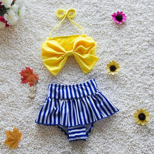Ariel 2 piece bikini swimsuit in yellow/blue