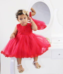 Red princess ball gown